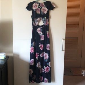 Urban Outfitters Dresses - Floral maxi dress with cutouts